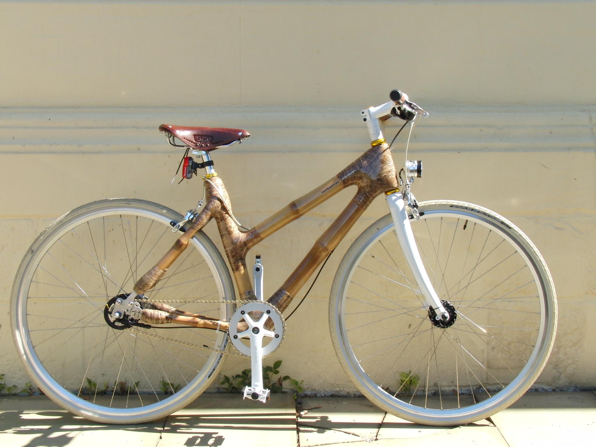 Bambus Fahrrad bei der Veranstaltung \